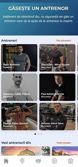 Aplicatie mobil sali fitness - UPfit Romania